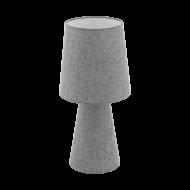 Vyšší stolní lampa z textilie, šedá CARPARA 97132