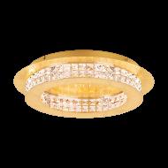 Stropní LED světlo s křišťály PRINCIPE 39405 ve zlatavém provedení, průměr: 50 cm