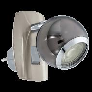 Bodové LED světlo do zásuvky - provedení: černý nikl BIMEDA 96841
