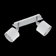 Bodovka s textilními stínítky, bílá/stříbrná VALBIANO 97533