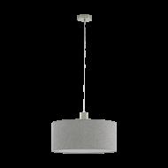Lustr na lanku s šedým textilním stínítkem CONCESSA 2 97672