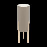 Stolní lampa, šedo-hnědé stínítko CAMPODINO 97894