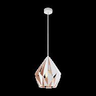 Závěsné světlo, bílá/růžově zlatá CARLTON 1 49932