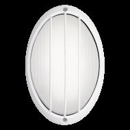 Oválné venkovní nástěnné LED svítidlo, bílé SIONES 1 96338