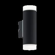 Venkovní nástěnné osvětlení, černé RIGA-LED 96505