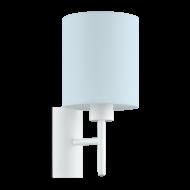 Textilní nástěnná lampa, pastelově modrá PASTERI-P 97388