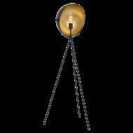 Stojací lampa DARNIUS 98458, provedení: černá/zlatá