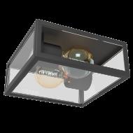 Nástěnná venkovní lucerna / lampa černá ALAMONTE 1 94832