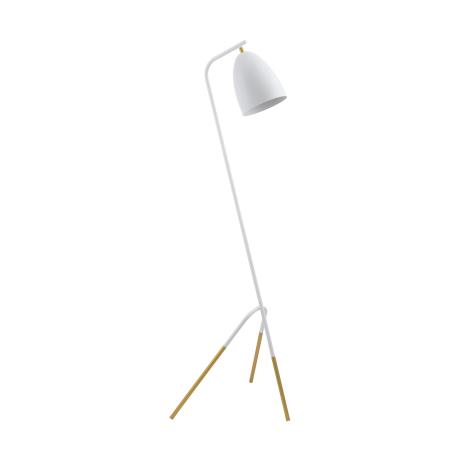 Stojací lampa, bílá/zlatá WESTLINTON 49944