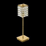 Stolní lampa s křišťálovým stínítkem PYTON GOLD 97725