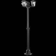 Venkovní lampa/sloupek černý ALORIA