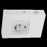 Podlinková zásuvka bílá TAXANO 94665