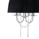 Nástěnná lampa s černým stínítkem DIADEMA