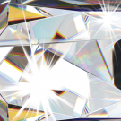 Černý lustr s křišťálem DIADEMA