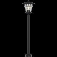 Venkovní stojací svítidlo s lucernou černá PULFERO 94836