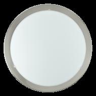 Kruhové stropní osvětlení niklový rám LED PLANET 31254
