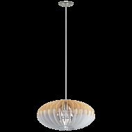 Závěsný lustr s dřevěným stínítkem SOTOS 96963