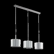 Závěsné svítidlo se třemi stínítky - stříbrné SAGANTO 39353