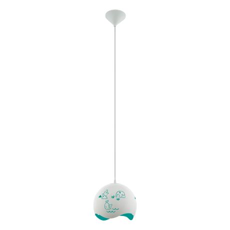 Závěsné svítidlo do dětského pokoje, bílá/modrá LAURINA 97393