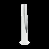 Designová stolní LED lampa, bílo-stříbrná BARBOTTO 97581