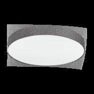 Osvětlení na strop s textilním stínítkem a průměrem 76 cm, šedá/bílá PASTERI 97617