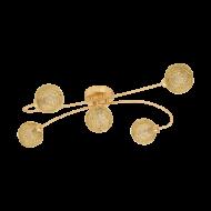 Přisazený LED lustr, zlatá/zlatá CARIS 1 97726