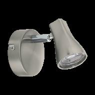 Nástěnná LED bodovka v odstínu niklu TIBERIO 1 97822