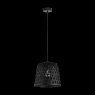 Černé závěsné svítidlo KIRKCOLM 43112