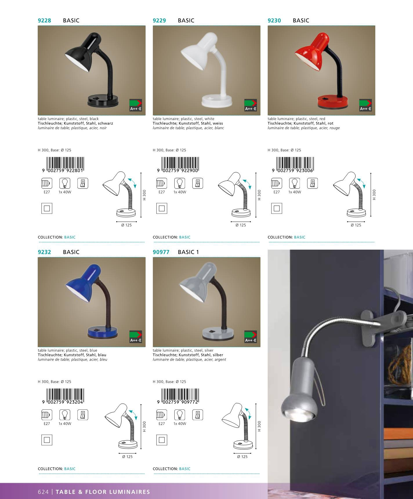 stoln lampi ka na psac st l basic1 eglo 90977. Black Bedroom Furniture Sets. Home Design Ideas