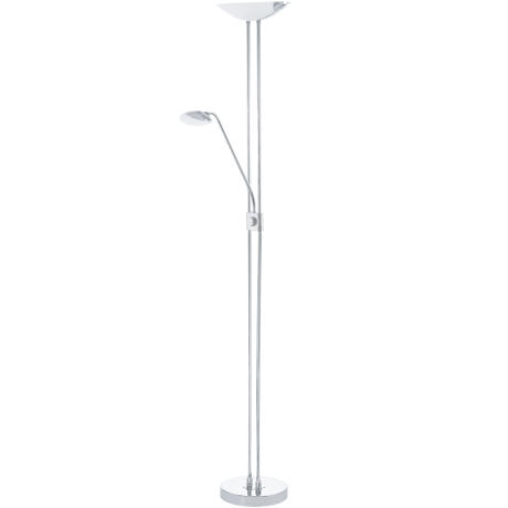 Stojací lampa pokojová stmívatelná chrom BAYA LED 93875