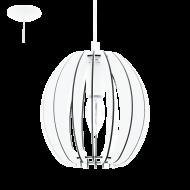 Závěsné svítidlo s dřevěnou konstrukcí COSSANO 94443