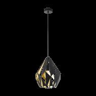 Závěsné světlo, černá/zlatá CARLTON 1 49931