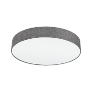 Stropní svítidlo textilním stínítkem o průměru 57 cm, šedá/bílá PASTERI 97613