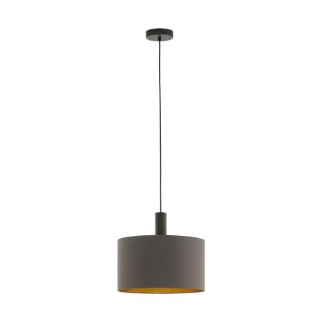 Závěsné osvětlení s kapučínovo-zlatým textilním stínítkem CONCESSA 1 97682
