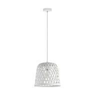 Bílé závěsné svítidlo KIRKCOLM 43111