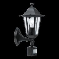 Zahradní svítilna černé barvy se senzorem LATERNA 4