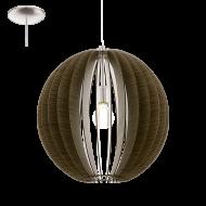 Závěsný lustr s dřevěnou konstrukcí COSSANO 94636