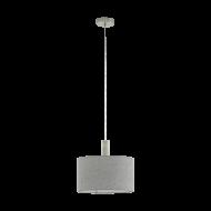 Závěsné osvětlení s šedým textilním stínítkem CONCESSA 2 97671