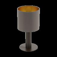 Stolní lampička s textilním stínítkem v barevném provedení kapučíno/zlatá CONCESSA 1 97686