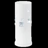 Pokojová lampička bílá s křišťálem PIGARO
