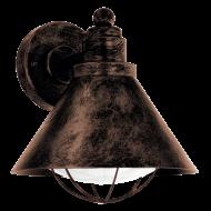 Venkovní lucerna nástěnná s patinou BARROSELA 94858