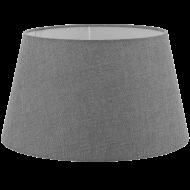 Textilní stínítko šedé k pokojové lampě 1+1 VINTAGE 49655
