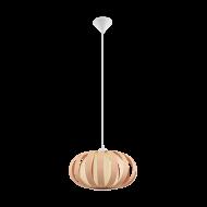 Závěsný lustr s dřevěným stínítkem/hnědý odstín ARENELLA 32439