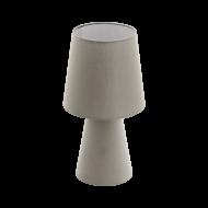 Textilní stolní lampa, šedo-hnědá CARPARA 97124