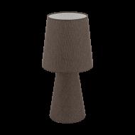 Vyšší stolní lampa z textilie, hnědá CARPARA 97133