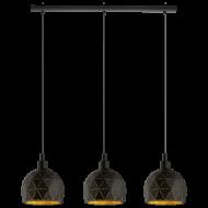 Závěsné osvětlení, černo-zlaté ROCCAFORTE 97846