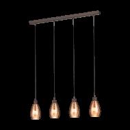 Závěsné osvětlení SIRACUSA 39507, hřejivě měděná stínítka