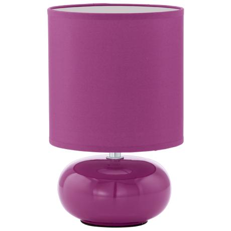 Fialová pokojová lampička z keramiky TRONDIO
