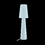 Textilní stojací lampa, pastelově modrá CARPARA 97434