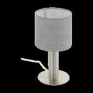Stolní lampička s šedým textilním stínítkem CONCESSA 2 97675
